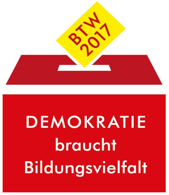 Logo: BTW2017 Demokratie braucht Bildungsvielfalt